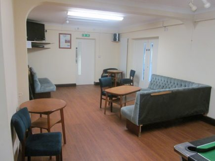 To the right can be seen the double doors which when opened up create a through room with the Barnes Wallis Hall